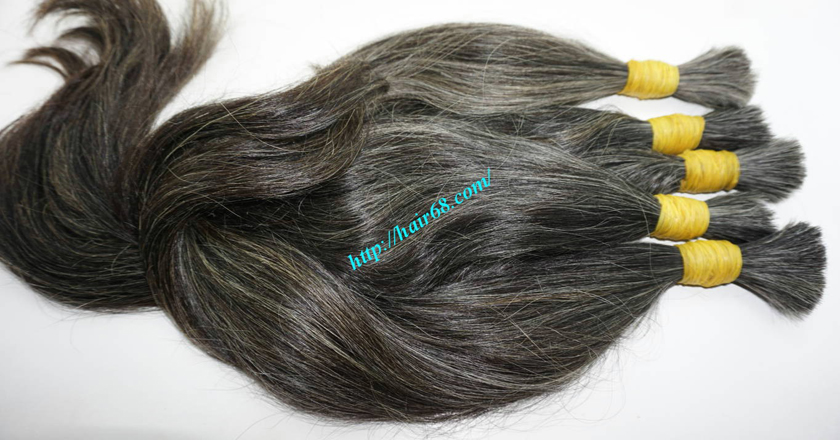 12 inch natural grey human hair 8