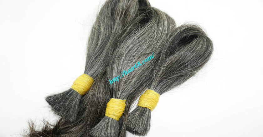 12 inch hair extensions for grey hair 5