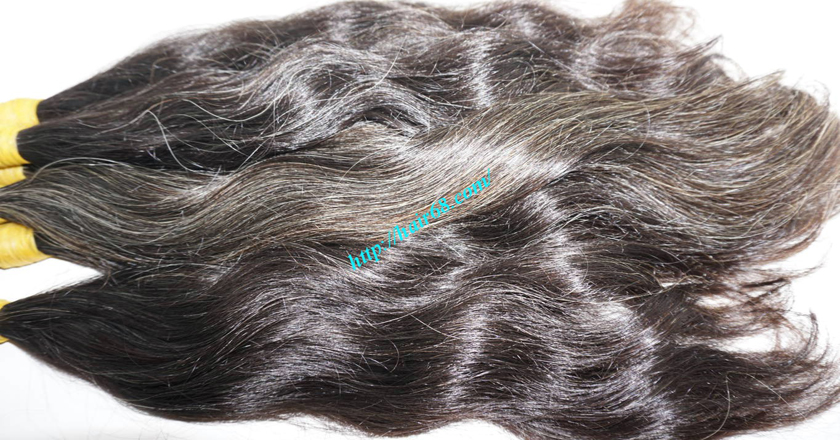 natural grey hair extensions 1