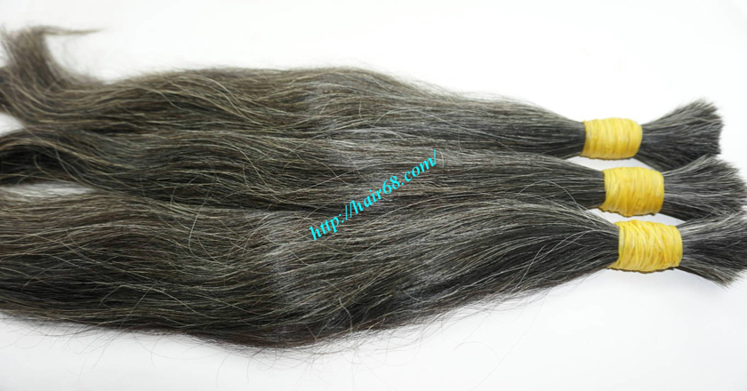 14 inch grey hair color vietnam hair 3