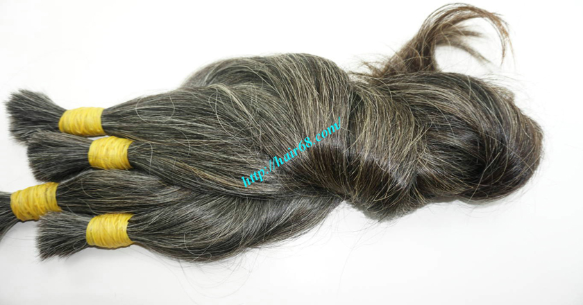 14 inch grey hair color vietnam hair 4