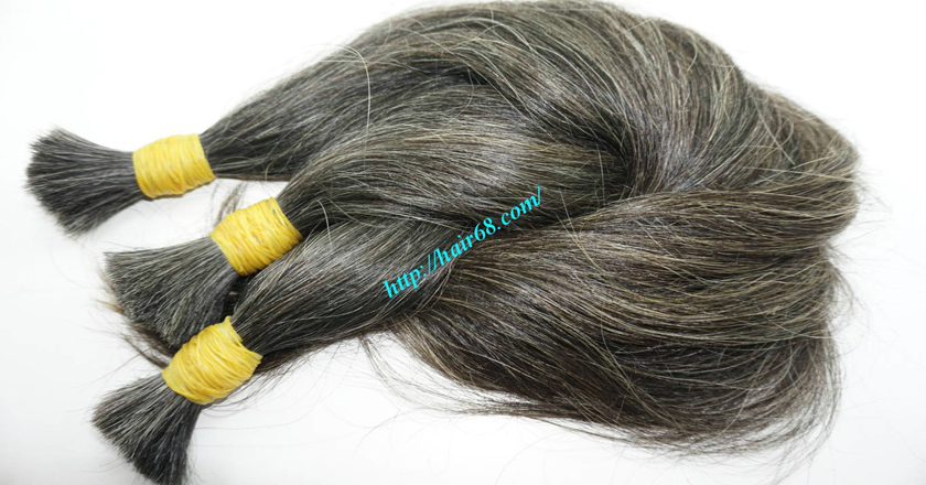14 inch grey hair color vietnam hair 7