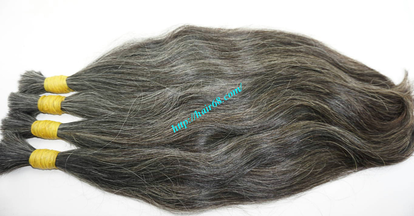 14 inch grey hair color vietnam hair 8