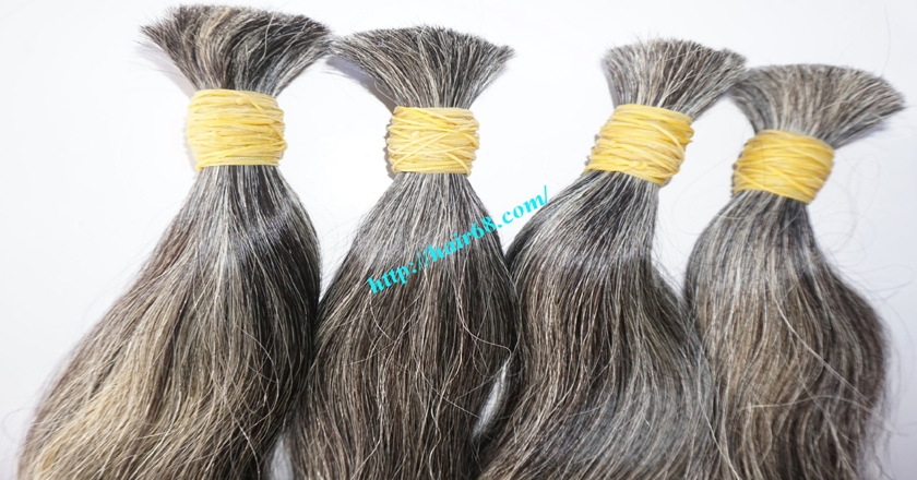 14 inch grey human hair 3