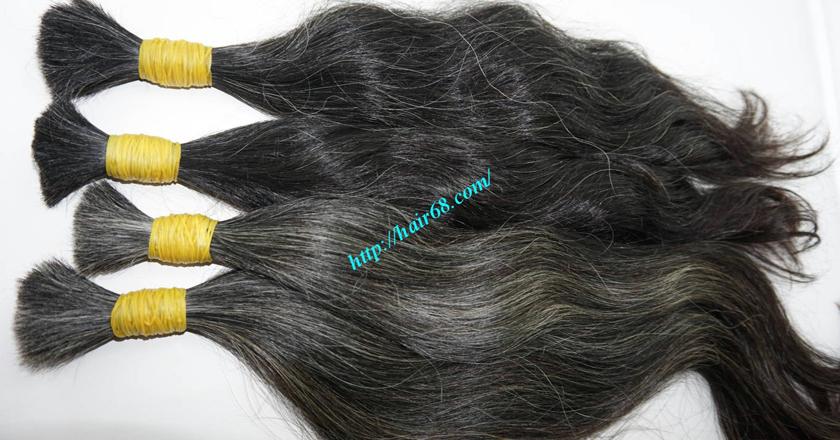 14 inch grey human hair 4
