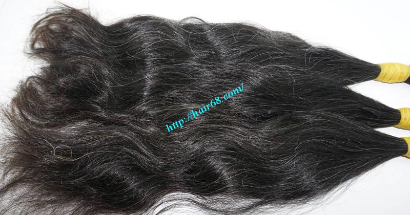 14 inch grey human hair 6