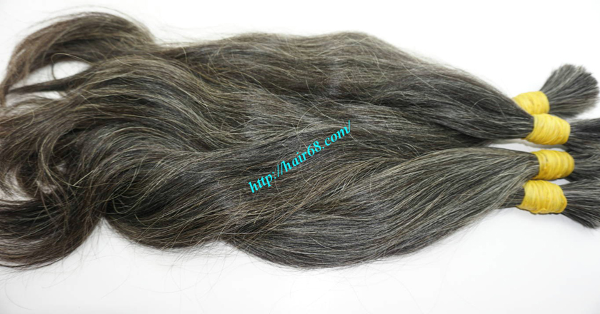 16 Inch Grey Hair Extensions Sale 100g Bundles High Quality