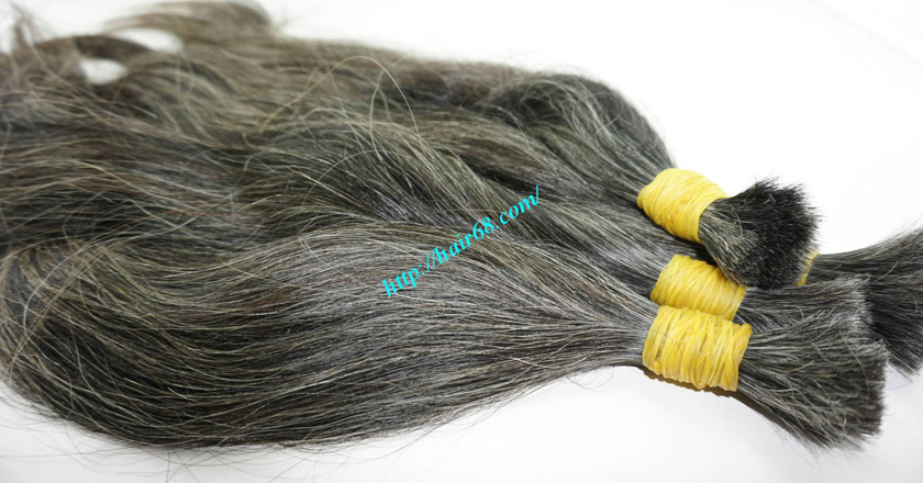 16 inch grey hair extensions sale 4