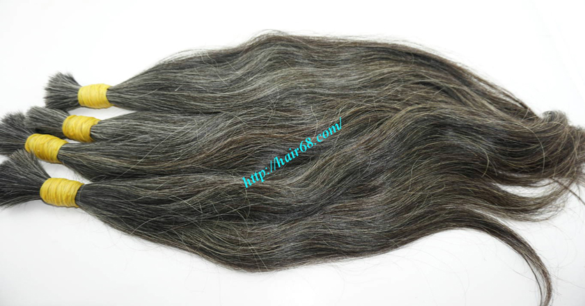 16 inch grey hair extensions sale 5