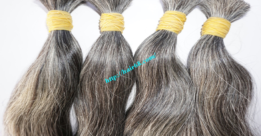 16 inch grey hair extensions 4