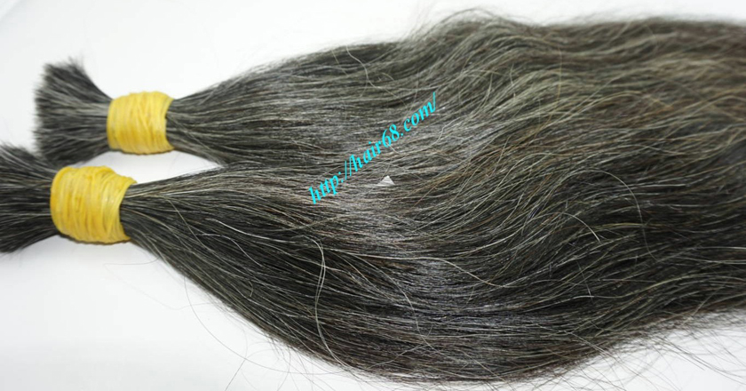 18 inch best grey hair extensions 1