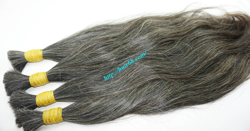 18 inch best grey hair extensions 5