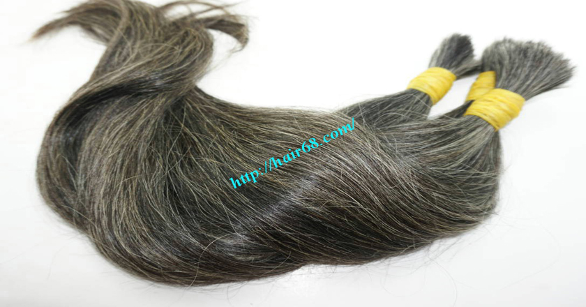 18 inch best grey hair extensions 8