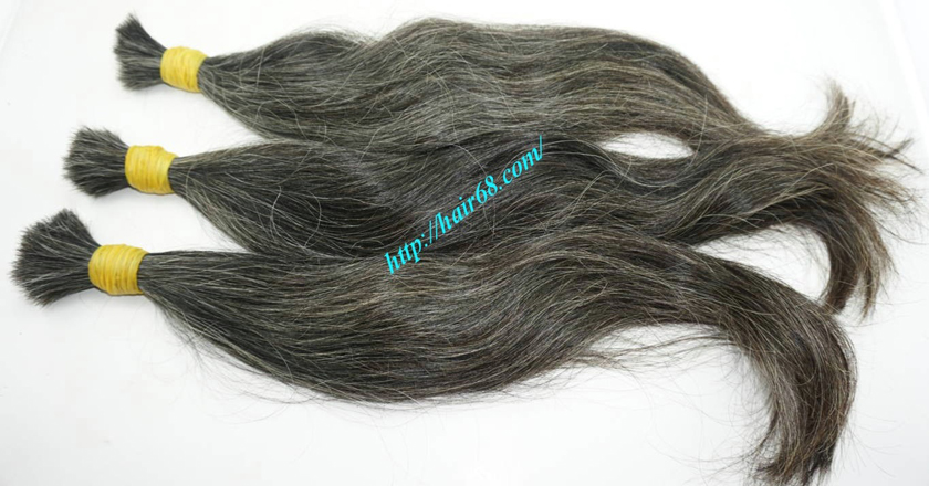 real grey hair extensions 1