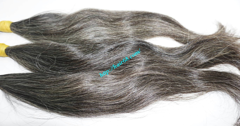 real grey hair extensions 2