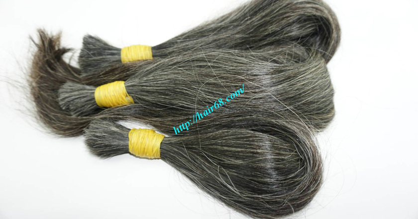 real grey hair extensions 3