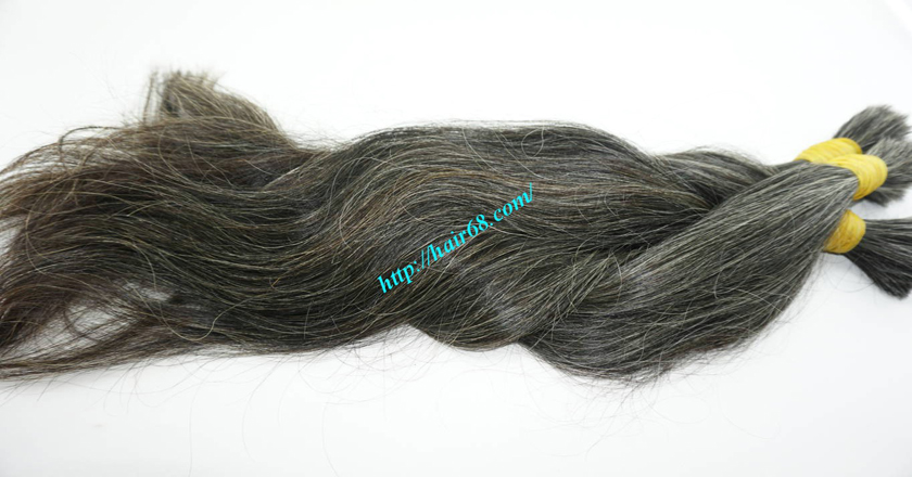 real grey hair extensions 4