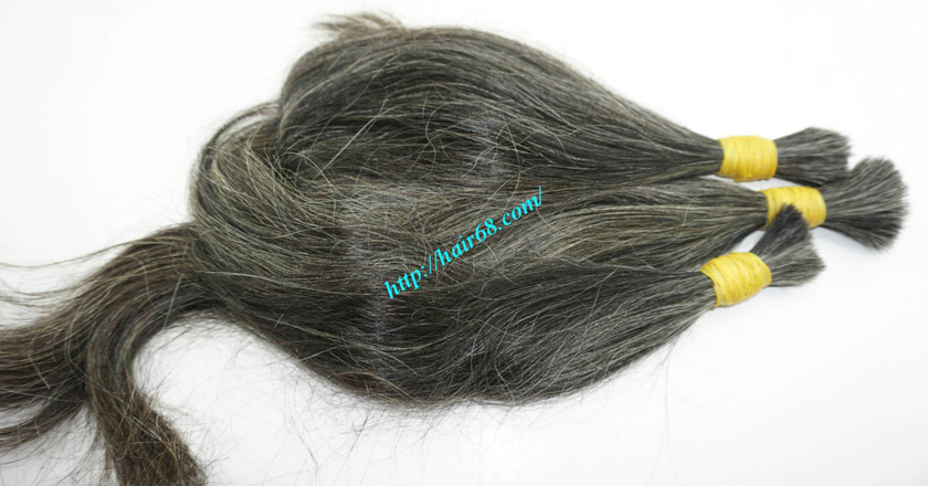 real grey hair extensions 5