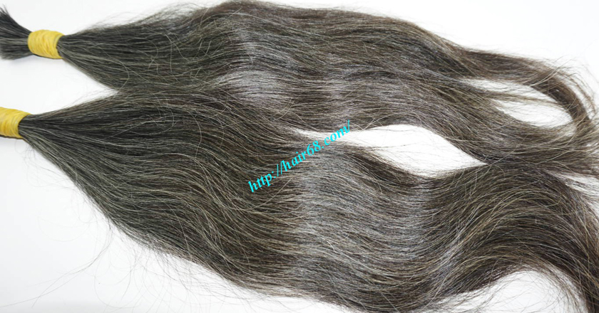 real grey hair extensions 6
