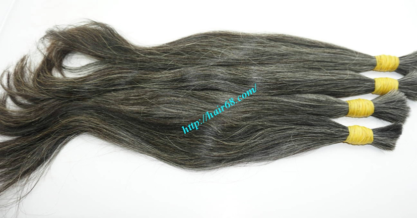 real grey hair extensions 7