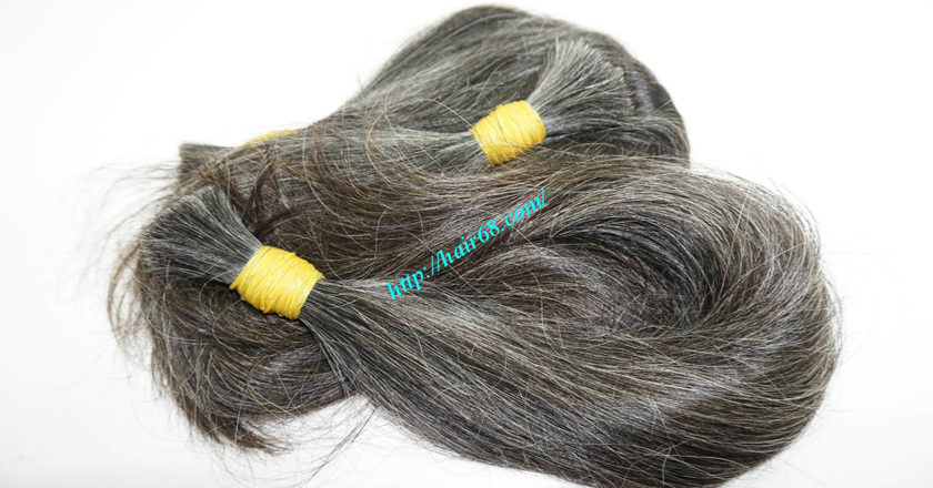 real grey hair extensions 8