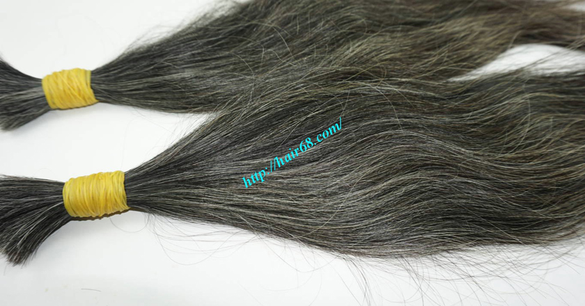 20 inch black and grey hair extensions 1