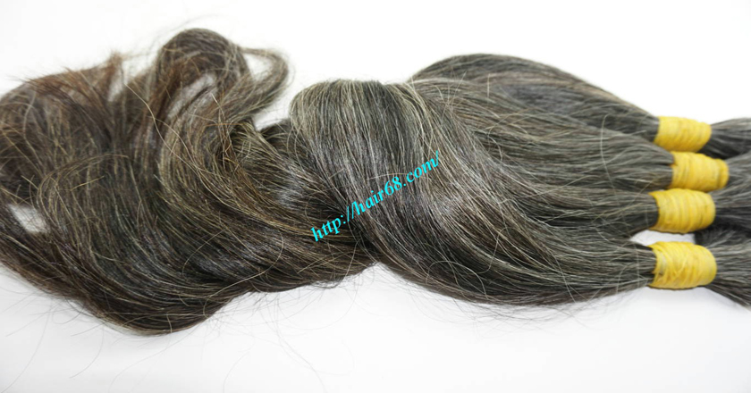 20 inch black and grey hair extensions 4