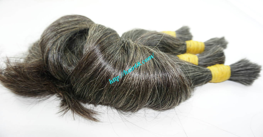 20 inch black and grey hair extensions 5