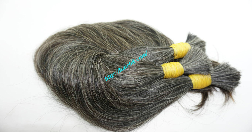 22 inch buy grey hair extensions 2