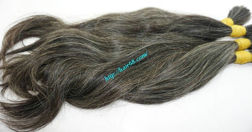 22 inch buy grey hair extensions 6