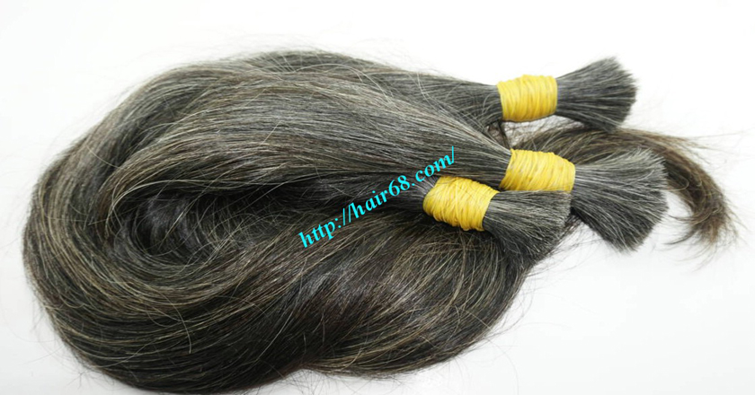 22 inch buy grey hair extensions 7