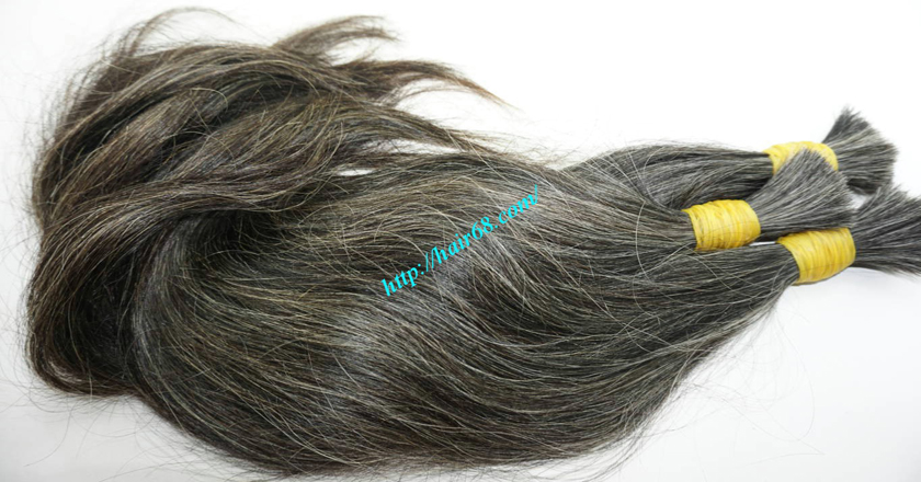 grey hair color extensions 2