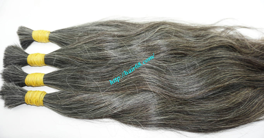 grey hair color extensions 3