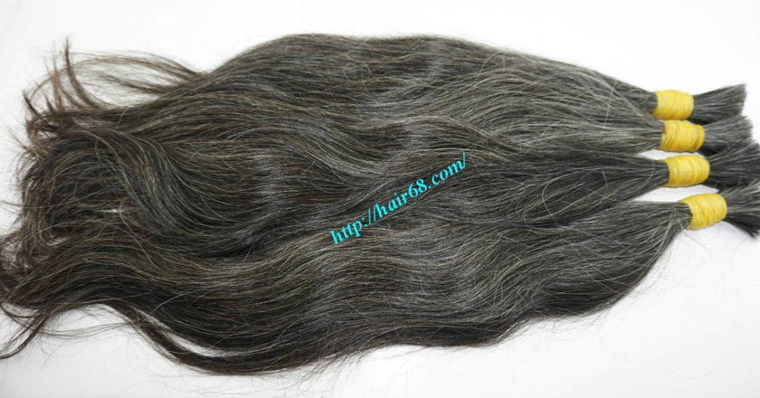grey hair color extensions 5