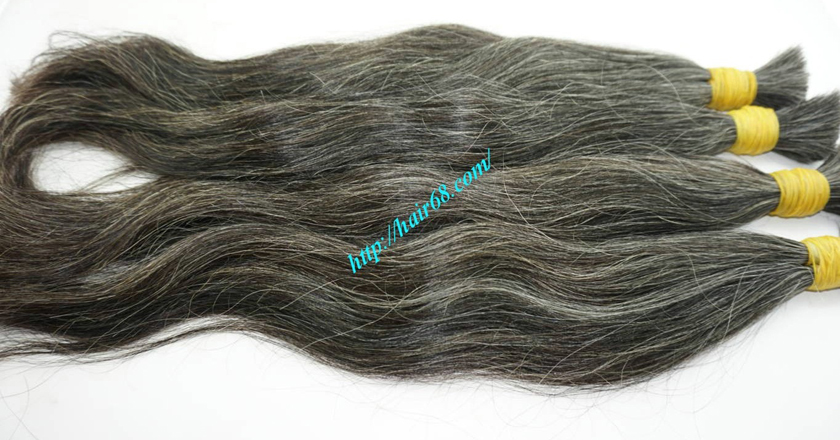 grey hair color extensions 7