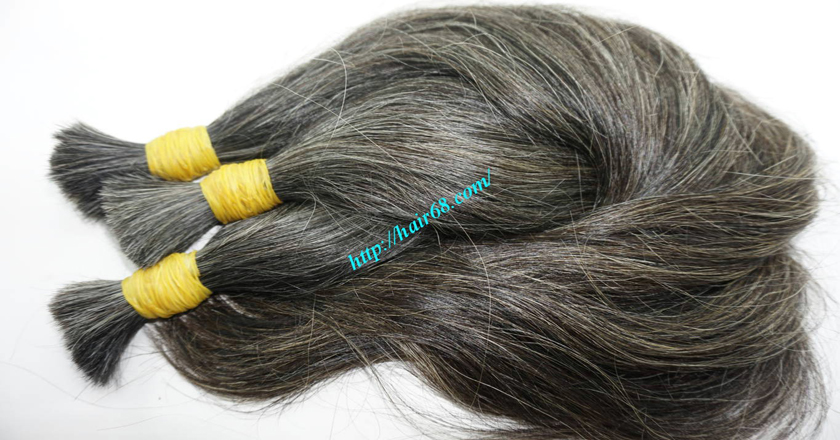 grey hair color extensions 8