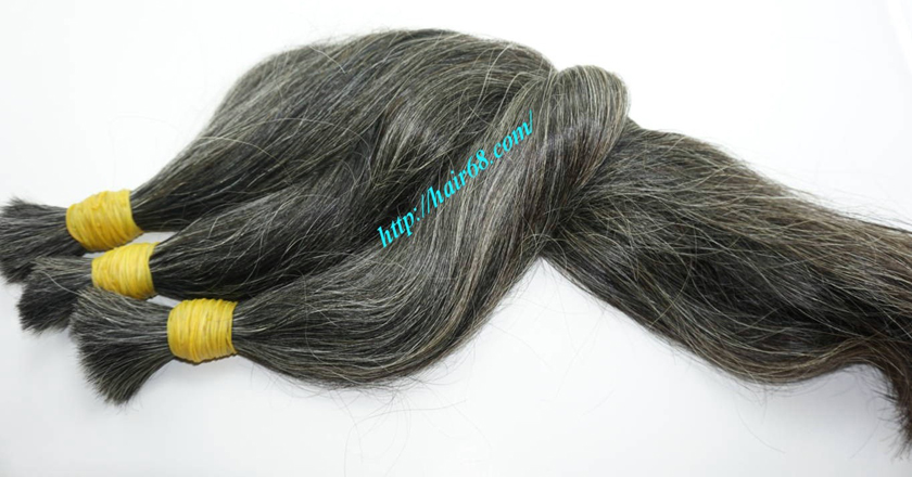 24 inch dark grey hair extensions 3