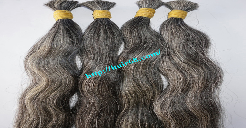 gray hair extensions 1
