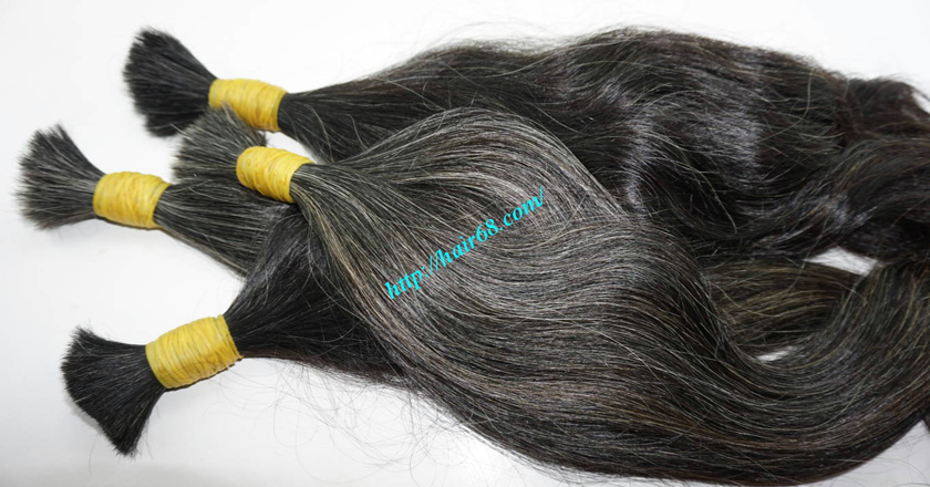 gray hair extensions 13