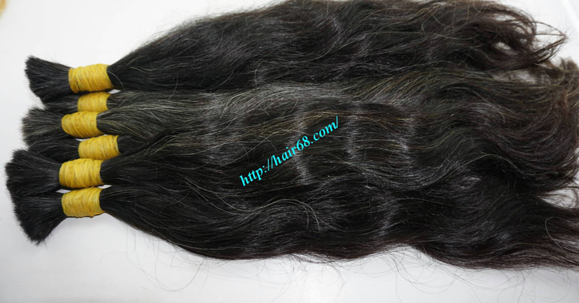gray hair extensions 14