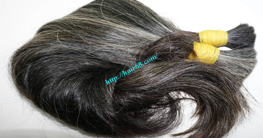 gray hair extensions 16