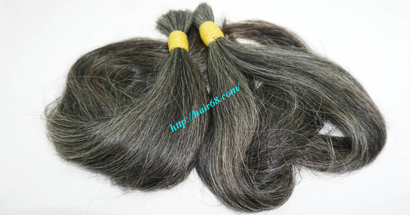 Gray Straight Hair Extensions No Tangles No Chemicals