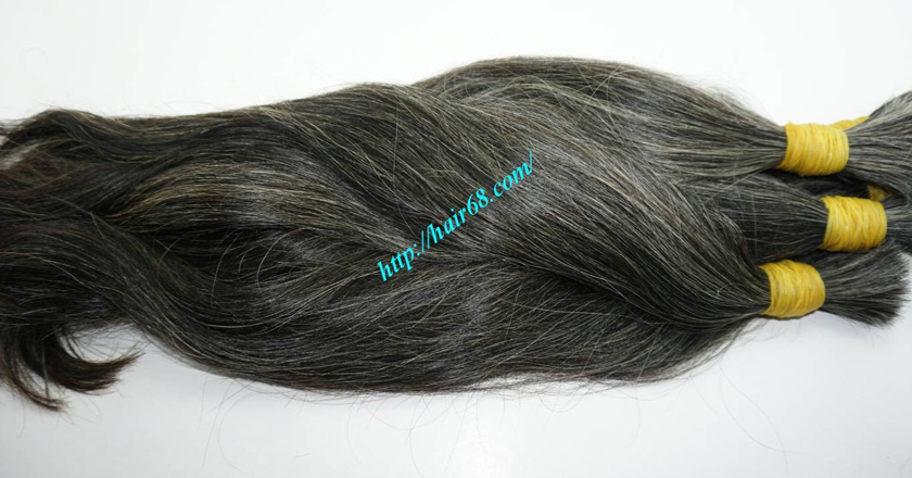 26 inch gray hair extensions 6