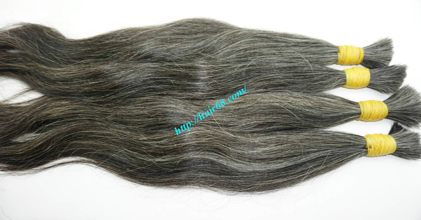 grey hair extensions online 2