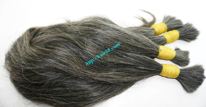 grey hair extensions online 3