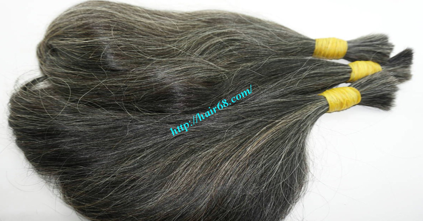 28 inch grey and black hair extensions 4