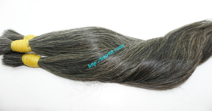 Grey and Black hair extensions luxury hair Brand Vietnam