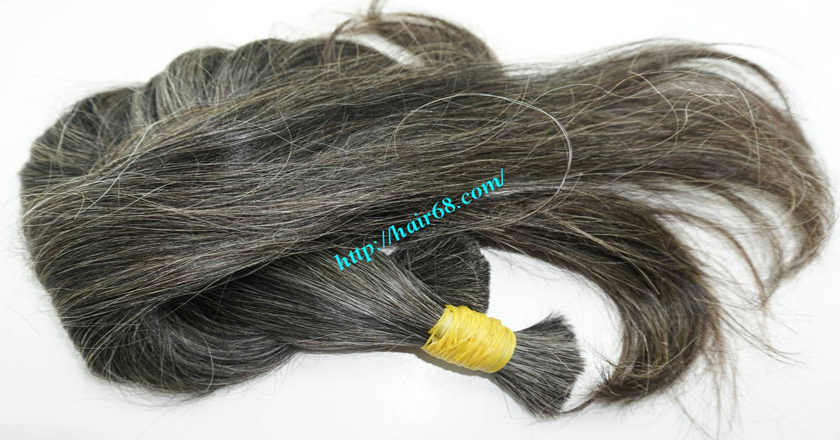 28 inch grey and black hair extensions 6