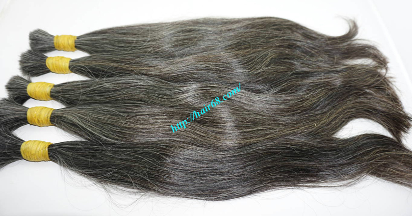 28 inch grey and black hair extensions 8