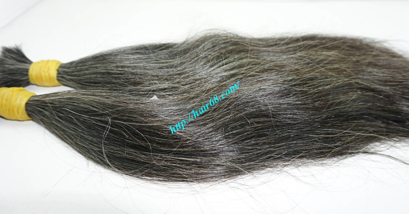8 inch natural grey hair 1